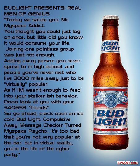 Bud Light offers promo codes often. On average, Bud Light offers 4 codes or coupons per month. Check this page often, or follow Bud Light (hit the follow button up top) to keep updated on their latest discount codes. Check for Bud Light's promo code exclusions. Bud Light promo codes sometimes have exceptions on certain categories or brands.5/5(4).