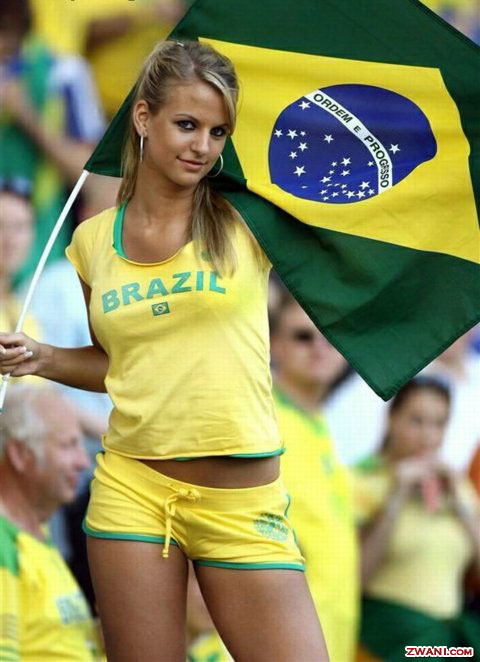 Brazil World Cup Fans Girls
